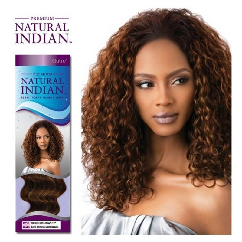 """Outre Natural Indian Tissage French Kiss Wave 12"""""""