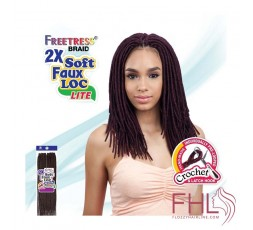 Freetress 2x Soft Medium Faux Locs 12\""