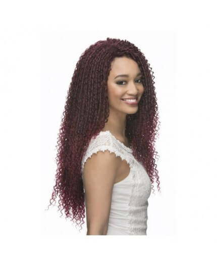 "Vivica Fox Latch Hook Loose Straw Curl 18"" Crochet Braid"