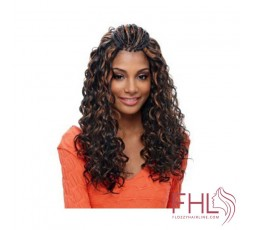 Janet Noir natte French Deep Curl Braid