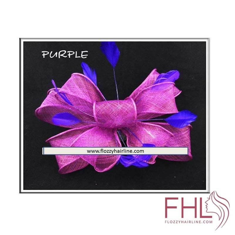 Fascinator Tulle Violet et Plumes Violet