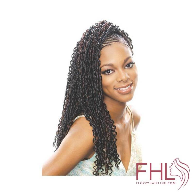 Model Model Glance natte Diva Curl Braid