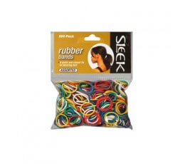 Accessoire de Coiffure Sleek Collection Rubber Bands 250pcs