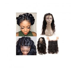 """Coiffure 360 Lace Frontal Cheveux Lisses Brésiliens 18"""""""
