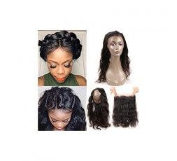 """Coiffure 360 Lace Frontal Cheveux Brésiliens Lisses 14"""""""