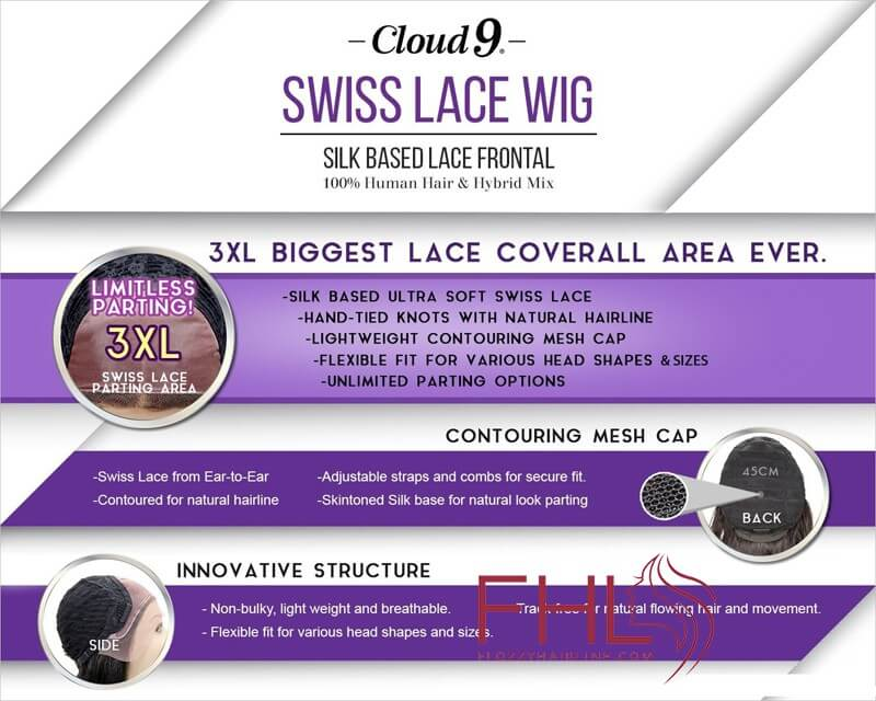 Accueil Sensationnel Cloud 9 Swiss Lace Perruque Rachel