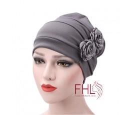 Accessoire de Coiffure Turban Fleur en Polyester Femme