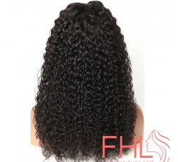 Coiffure 360 Curly Brazilian Lace Frontal Perruque 20""