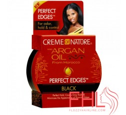 Gel Coiffant Creme of Nature Argan Oil Perfect Egde Gel Noir