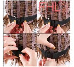 Accessoire de Coiffure Bande Elastique Réglable pour Perruque