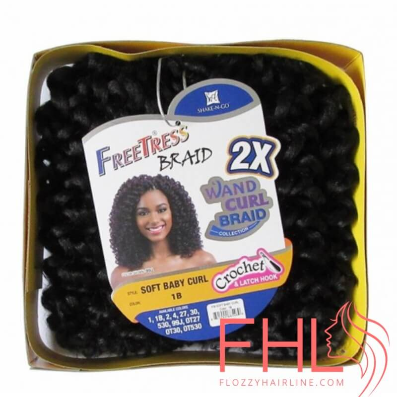 Crochet Braids Freetress Braid 2X Soft Baby Curl