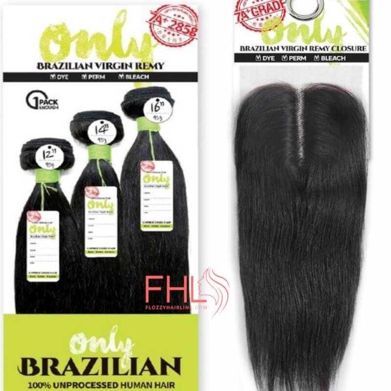Zury Only Brazilian Multi Pack Straight + Closure