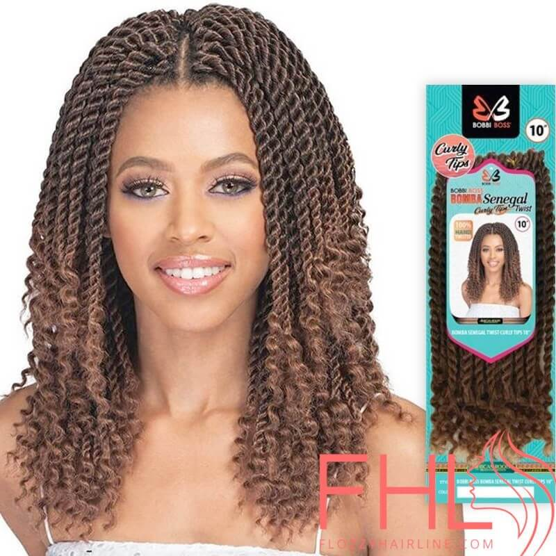 "Bobbi Boss Crochet Senegal Twist Curly Tips 10"""