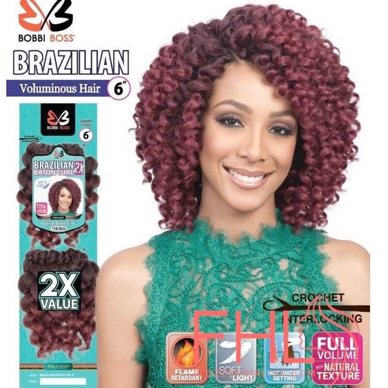 "Bobbi Boss Brazilian 2X Baton Curl Braid 6"""