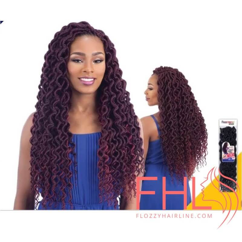 "Freetress Plumpy Curly Faux Loc 20"" - Crochet Braid"
