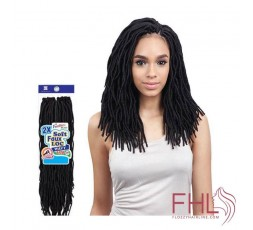 "Freetress 2x Soft Wavy Faux Locs 12"" Crochet Braid"