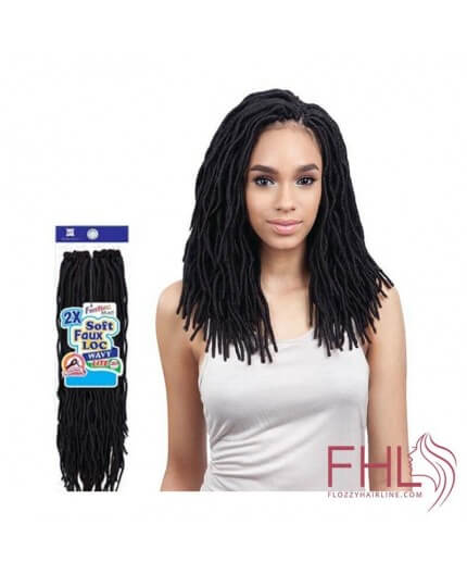 "Freetress 2x Soft Wavy Faux Locs 12"" Crochet Braid"