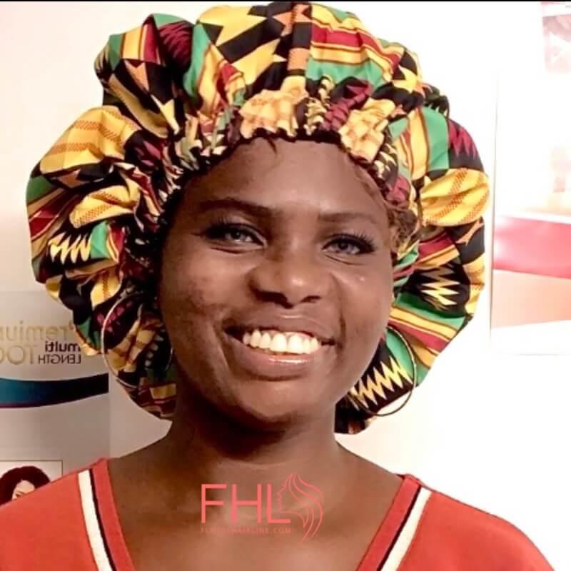 Bonnet de Nuit Tissu Africain