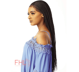 Sensationnel Cloud Braided Lace Side Part Fulani Cornrow