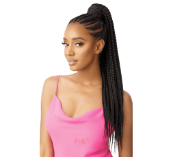 Outré Postiche Large Box Braid Pretty Quick Wrap Pony