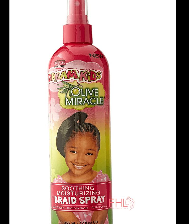 African Pride Kids Olive Miracle Braid Spray