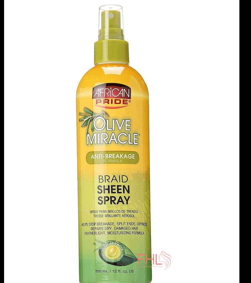 African Pride Olive Miracle Braid Sheen Spray