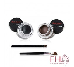 Eyebrow poudre-gel maquillage yeux 2pcs