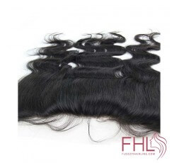 """Coiffure Lace Frontal 13""""x4"""" Cheveux Brésiliens Lisse 14"""""""