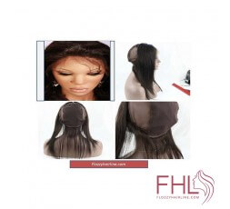 Coiffure Lace Frontal 360 Wig Cap Lisse 12""