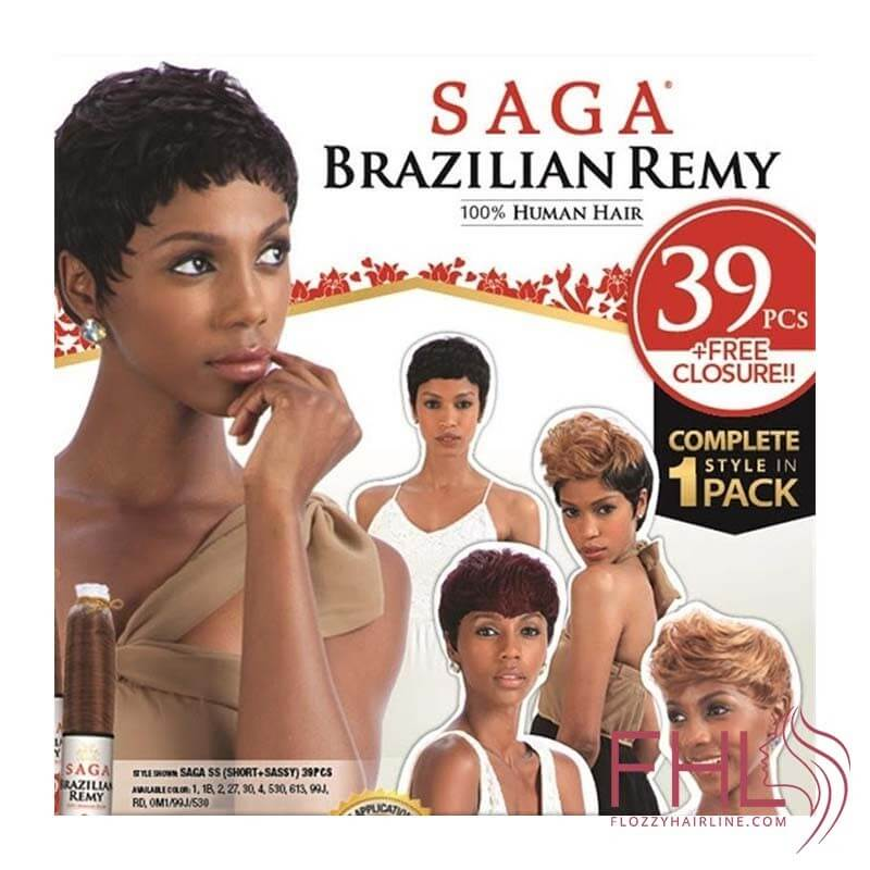 Saga Brazilian Remy Tissage Short + Sazzy 39pcs