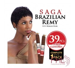 Saga Brazilian Remy Tissage Short + Sazzy 39pcs