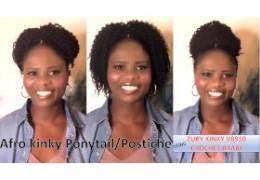 Afro Kinky Postiche / Ponytail avec la mèche Zury Kinky V8910